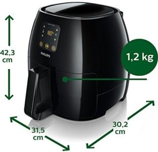 Philips HD9240//30 Airfryer XL Heißluftfritteuse 2100 Watt 1,2kg Kapazität weiß